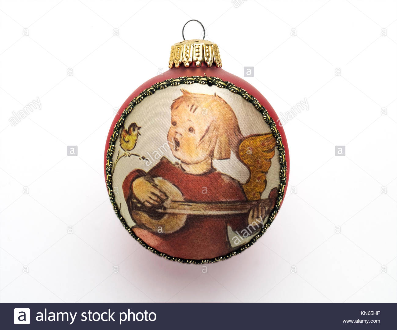 Hummel Christmas Ornaments.Vintage Christmas Tree Ornament With Applied Fabric Image