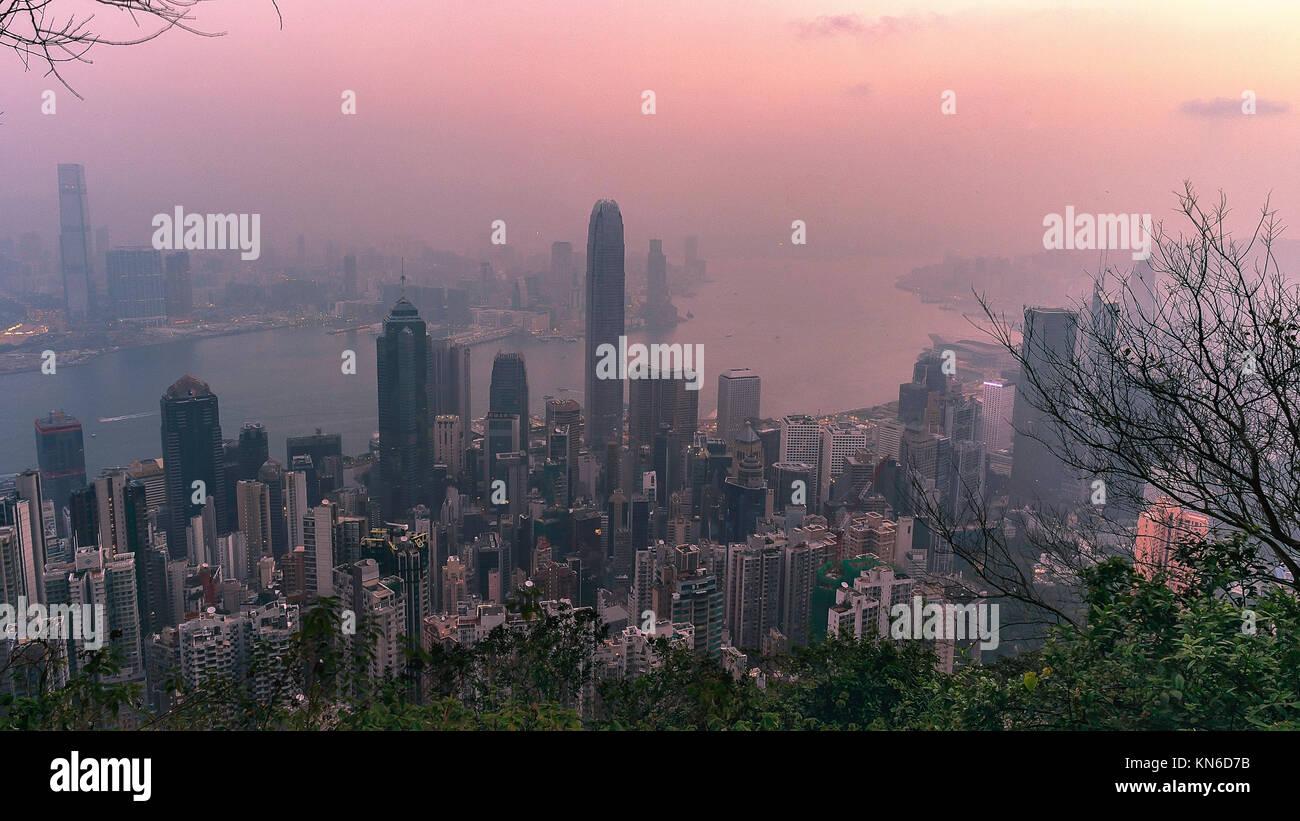 Hongkong Hong Kong Skyline - Stock Image