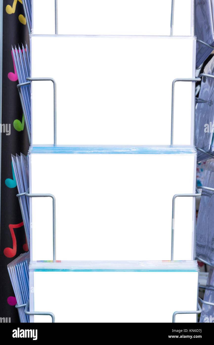 blank postcard templates rack tourism travel white space holders