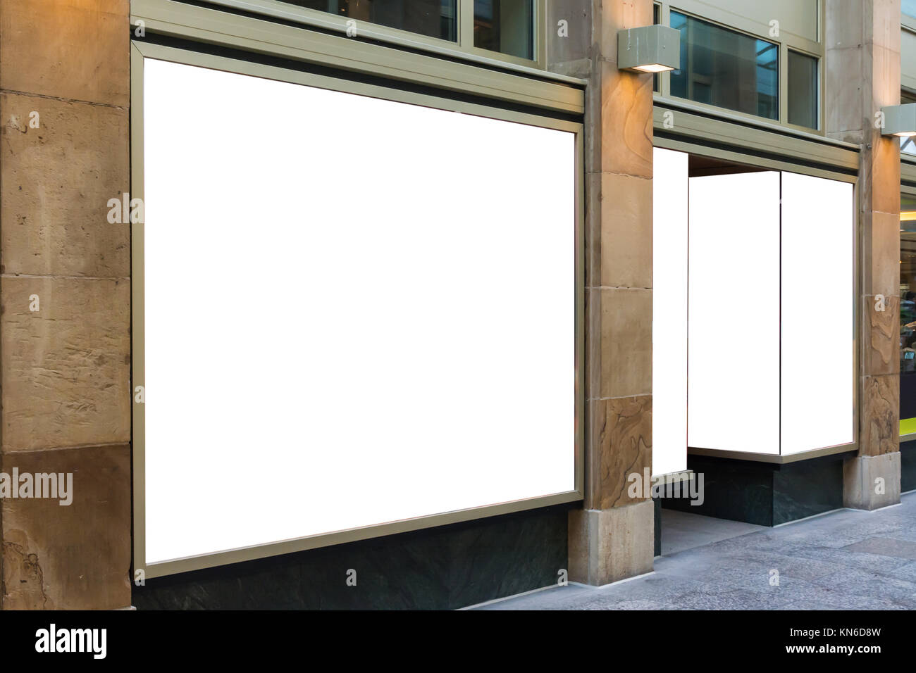 2e520b2bc833 Blank Storefront Copy Space Template Crowded Area Mall Design White ...