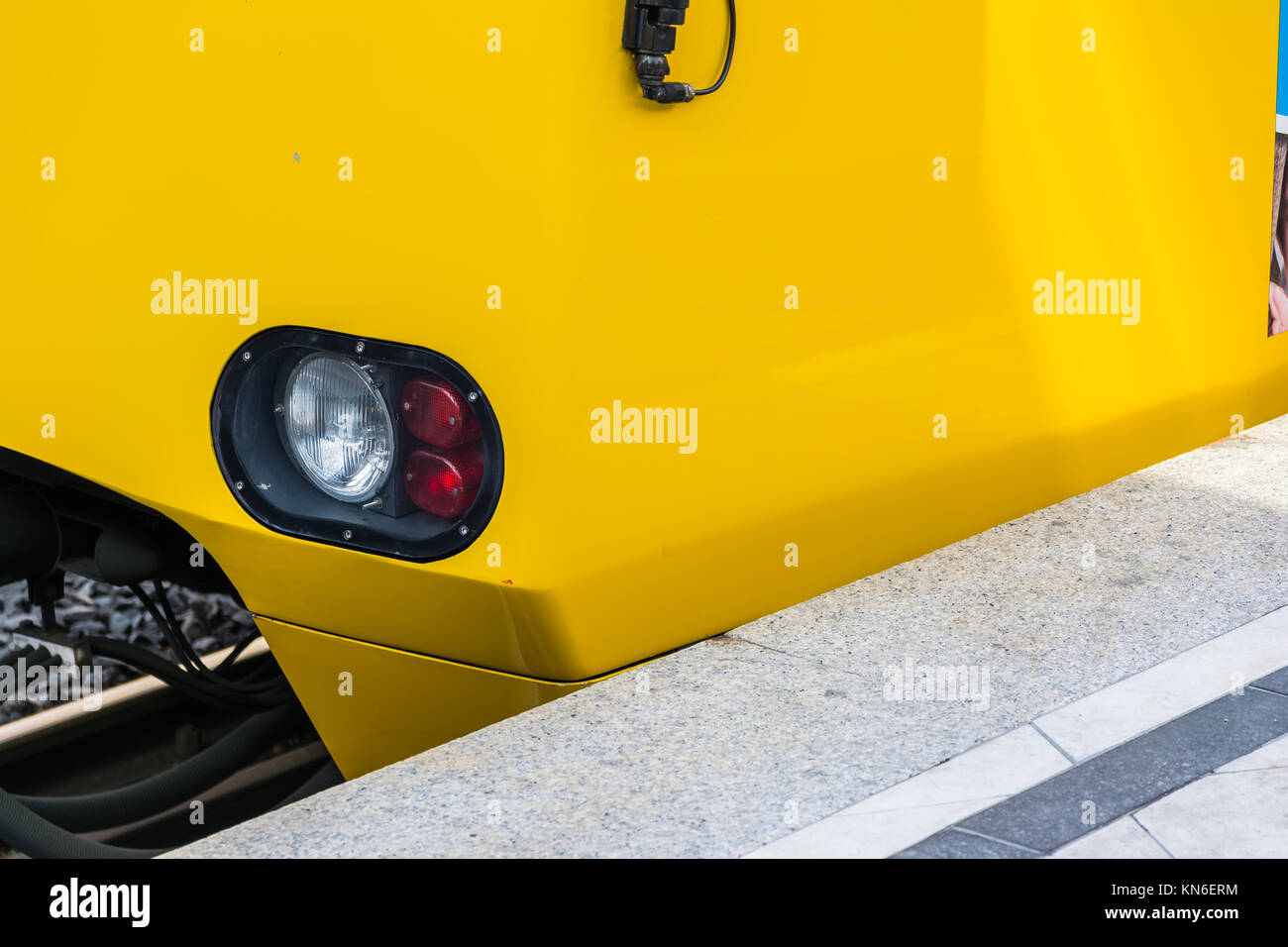 Train Headlight Stock Photos Images Alamy Head Lights For Model Trains Subway Arriving Red White Light Daytime Yellow Side Abstract Bright Concrete Platform Closeup Detail