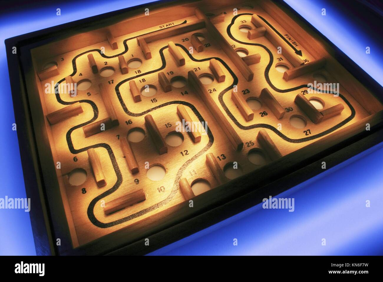 Maze maze, game, labyrinth, puzzle, mystery, confusion, complication, dilemma, obstacle, struggle, challenge, direction, - Stock Image