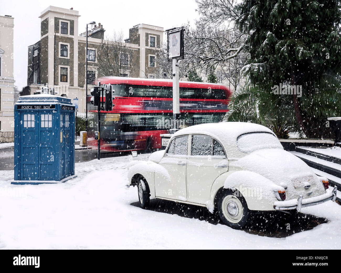 Dr Who Tardis in North London UK - Stock Image