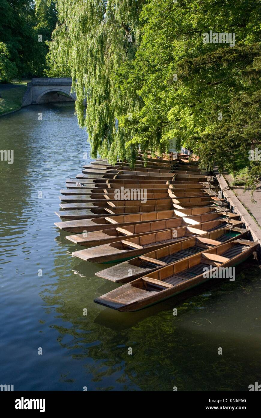 Cambridge boats. University of Cambridge. - Stock Image