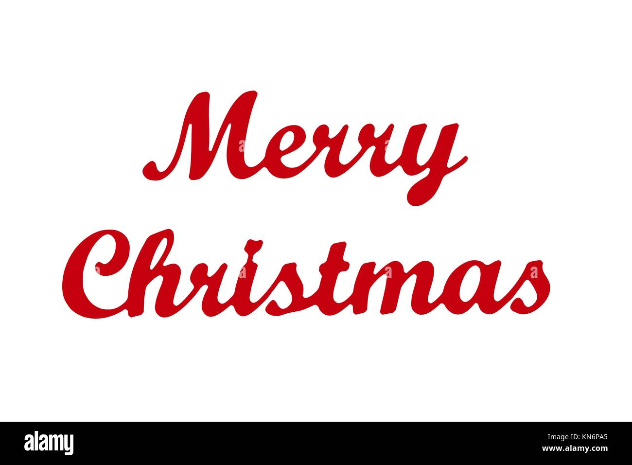 Merry Christmas Writing.Merry Christmas Writing In Red Isolated Stock Photo