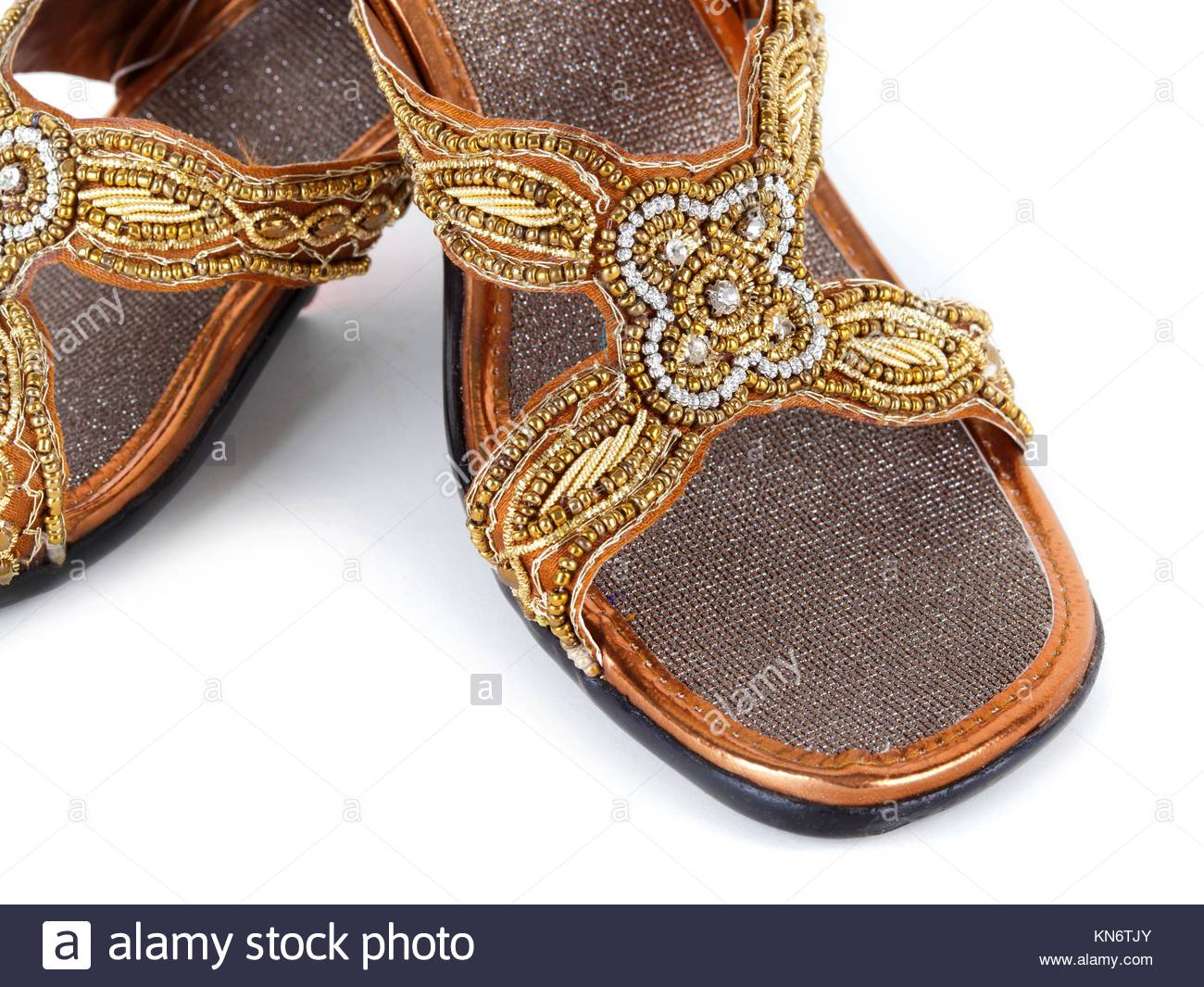 065ed416a0564 Pair of traditional Indian sandals on white background Stock Photo ...