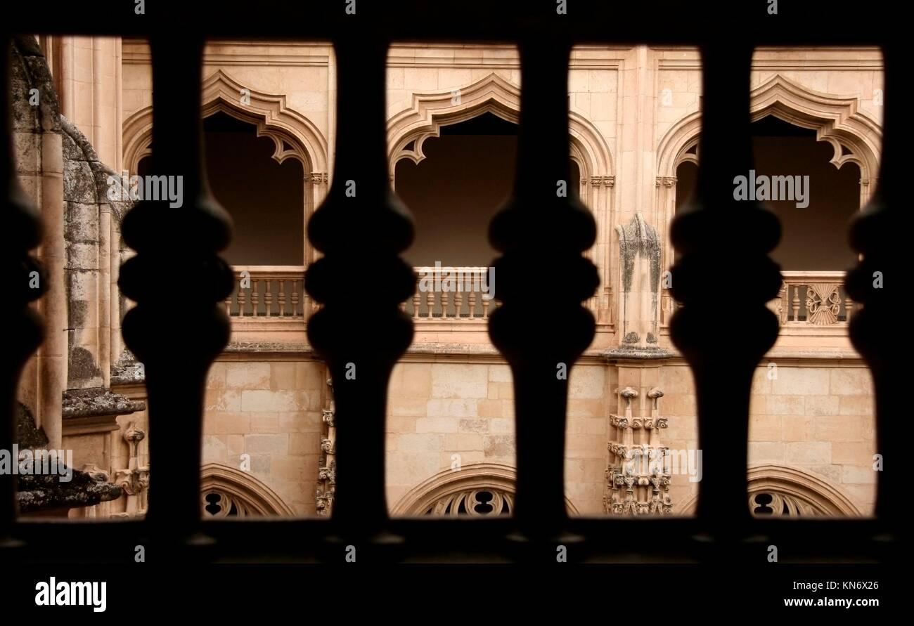 Gothic atrium of Monastery of Saint John of the Kings, Toledo, Spain. - Stock Image