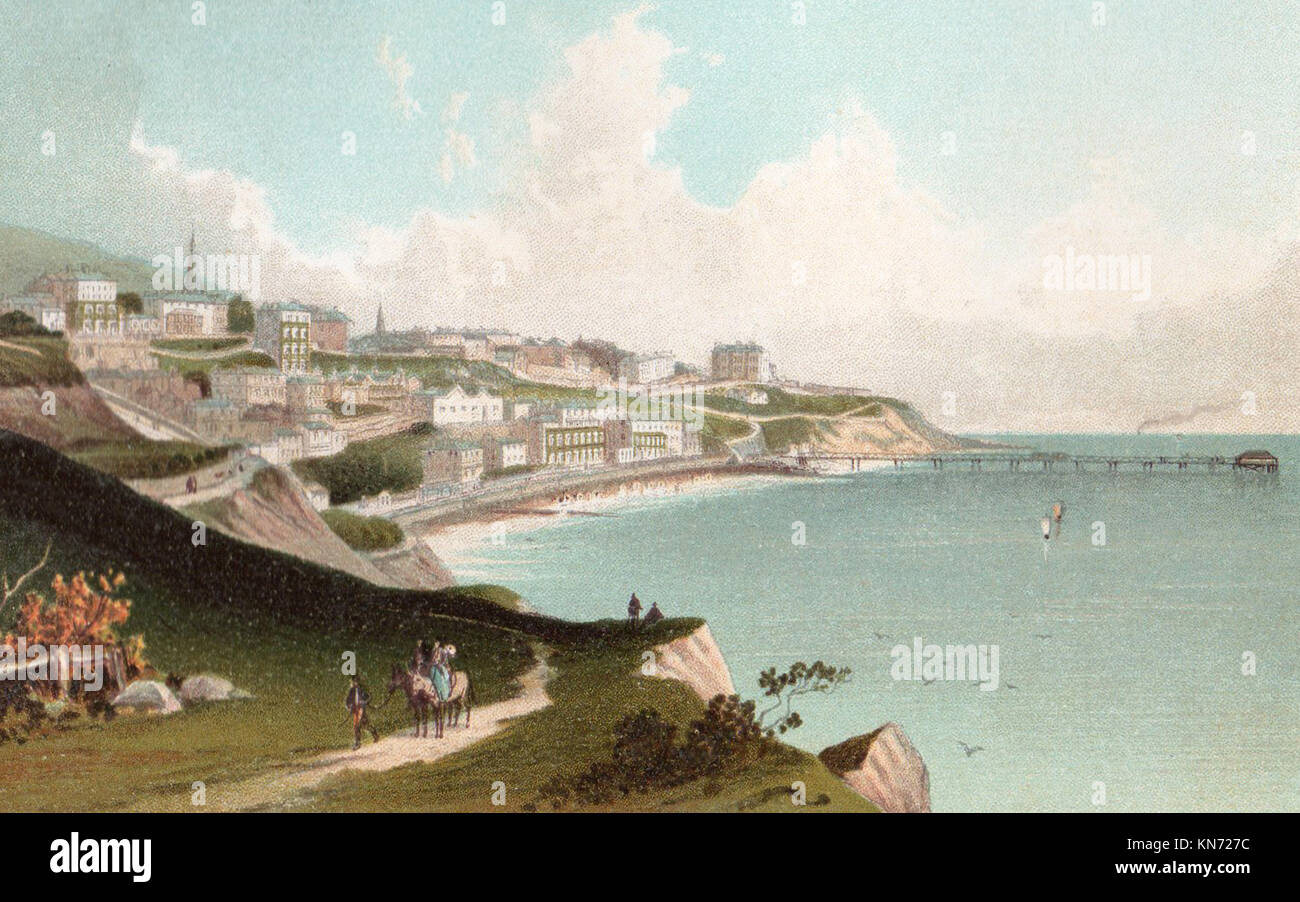 Ventnor, Isle of Wight, Victorian illustration - Stock Image
