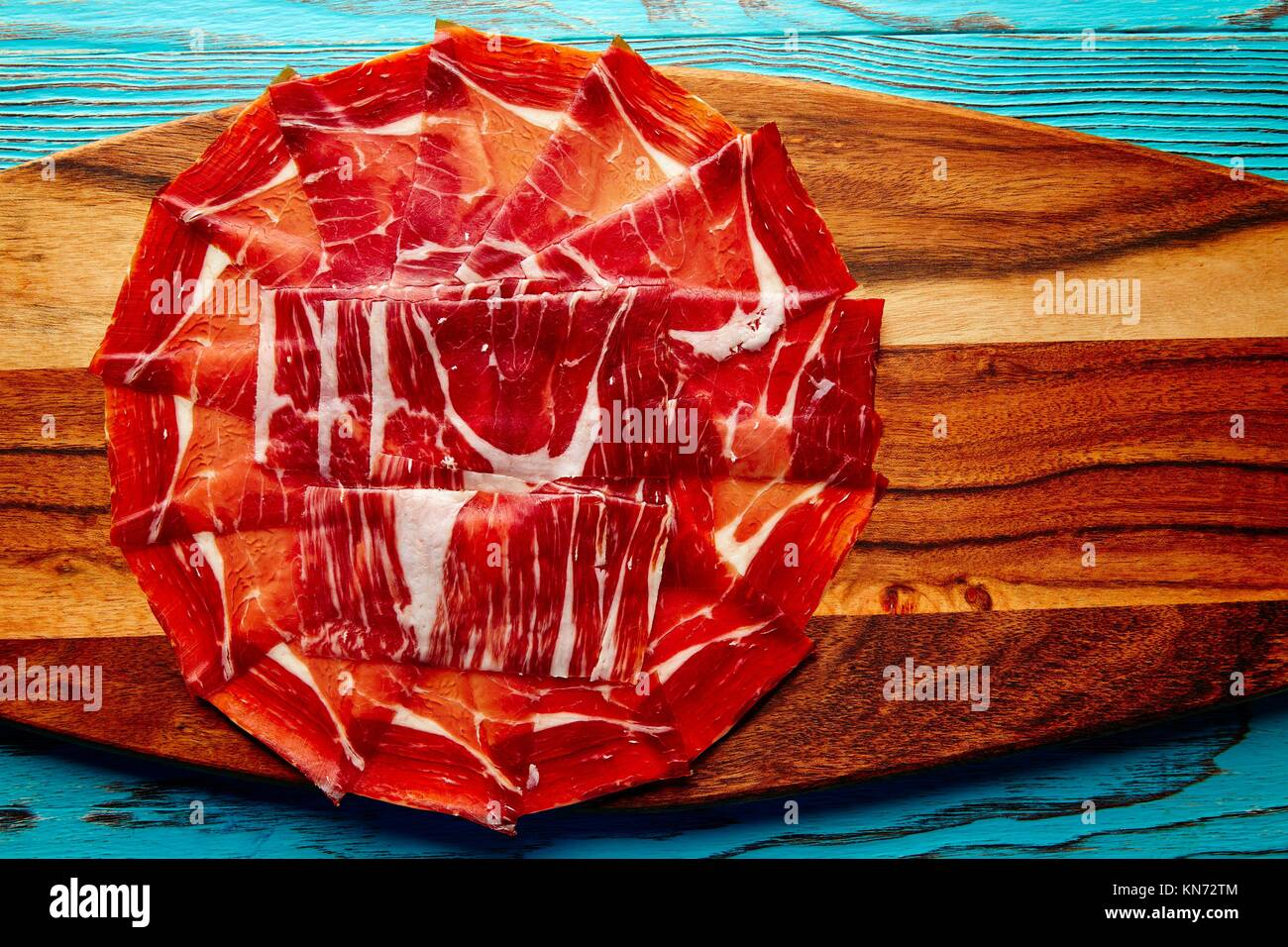 Jamon iberico han from Andalusian Spain Tapas. - Stock Image