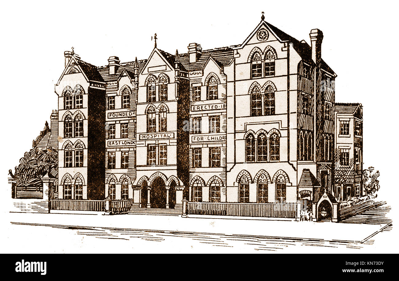 The (now demolished)  East London Hospital for children, Glamis Road, Shadwell, London, England, in the late 1800's - Stock Image