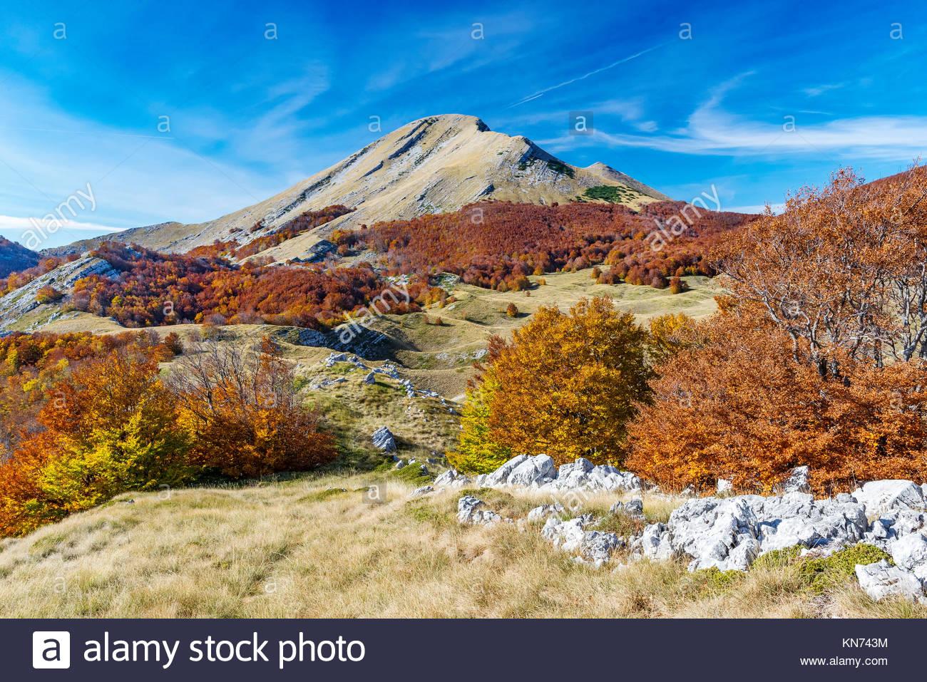 Sveto Brdo in Paklenica National Park, mountain Velebit in Croatia, Europe Stock Photo