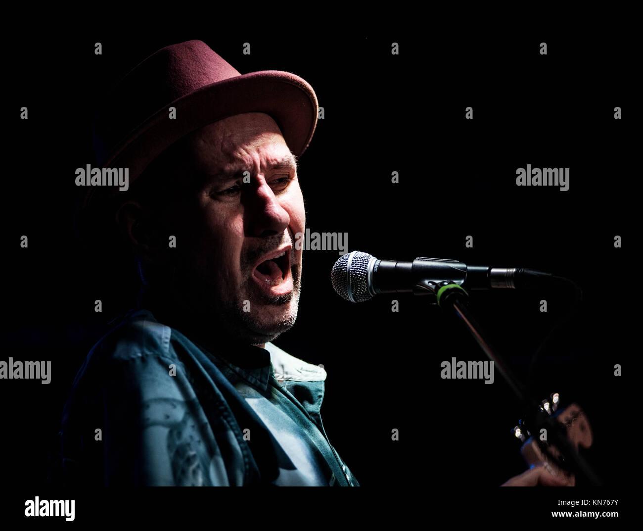 The Andy Gunn Band in The Mash House Edinburgh 2017 - Stock Image