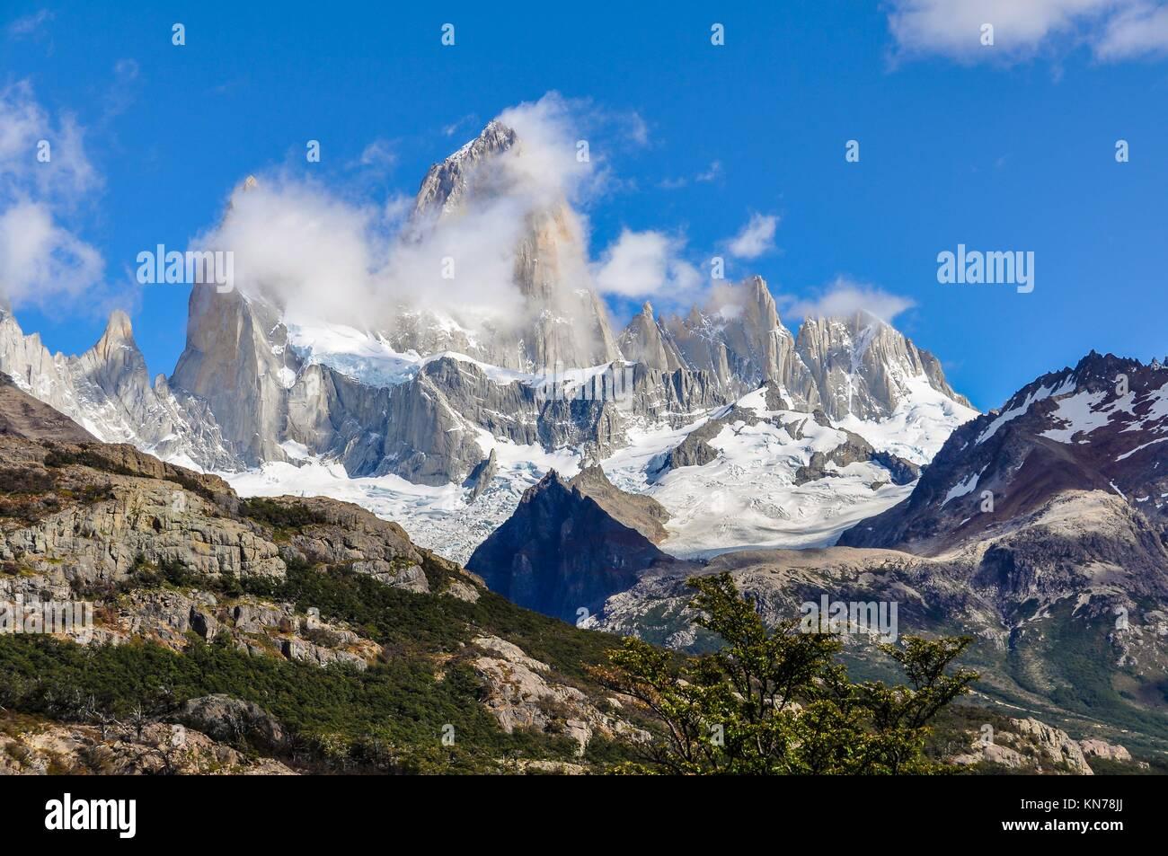 Fitz Roy Walk, El Chalten, Patagonia, Argentina. - Stock Image