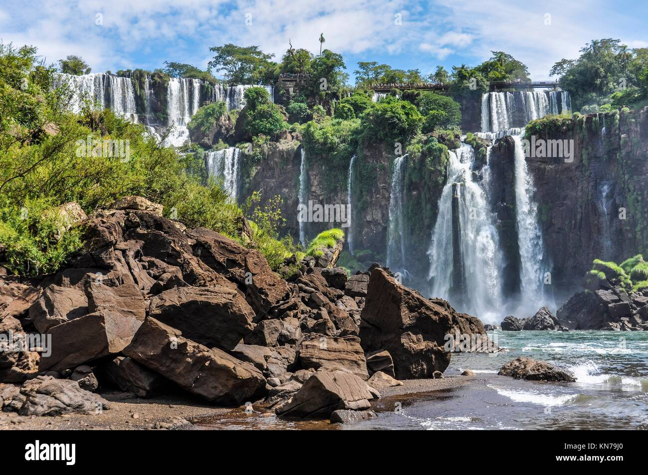 San Andres at Iguazu Falls, one of the New Seven Wonders of Nature, Argentina. - Stock Image