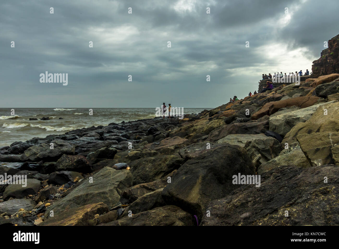 Sea view from Bandra Bandstand Stock Photo