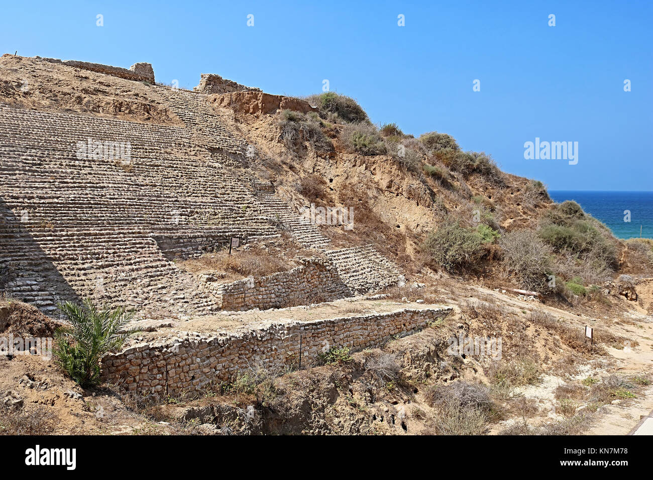 Canaanite city gate at Ashkelon, Israel, Middle East - Stock Image