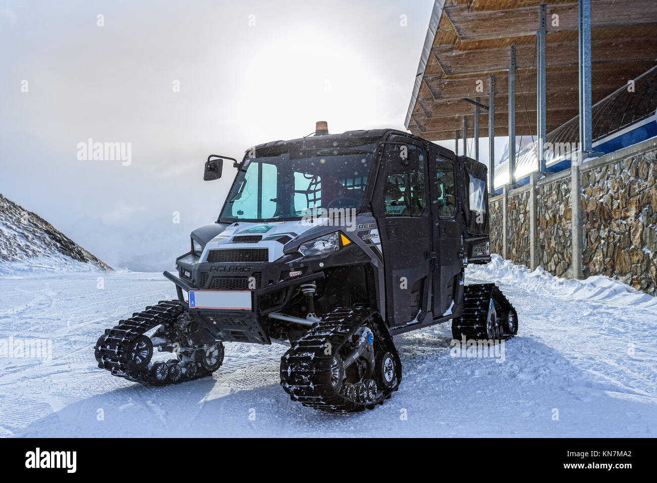 Polaris ranger 900 at Serfaus/Fis - Stock Image