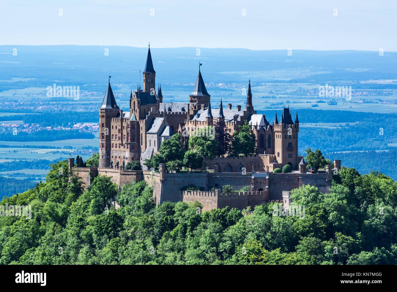 Burg Hohenzollern German European Castle Architecture Travel Famous Stock Photo Alamy