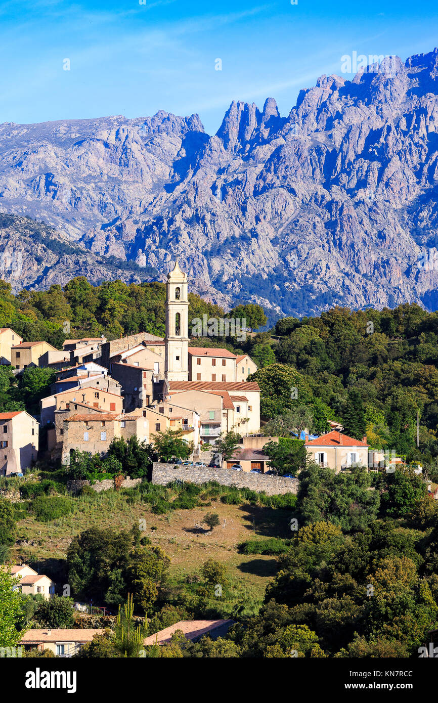 High Mountain Village of Soveria, Haut Corse, Corsica - Stock Image