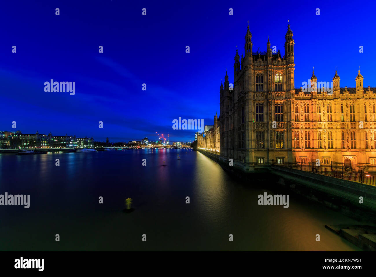 London, NOV 13: Night view of the famous Big Ben on NOV 13, 2015 at London, United Kingdom Stock Photo
