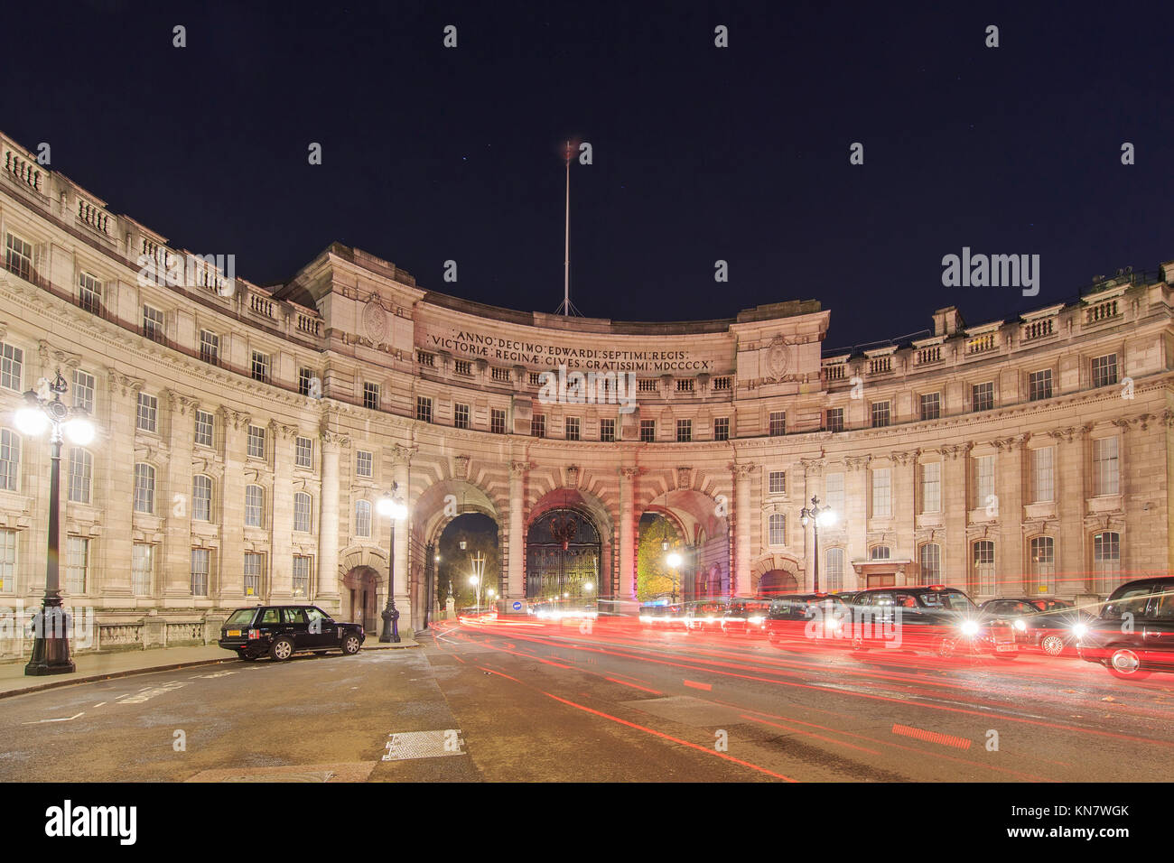 London, NOV 13: Night view of the Admiralty Arch on NOV 13, 2015 at London, United Kingdom Stock Photo