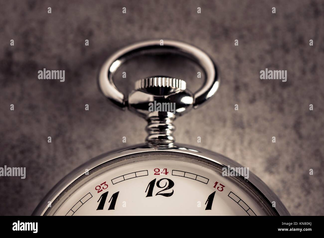 Old pocket watch detail. Symbol of time, deadline and nostalgia. - Stock Image