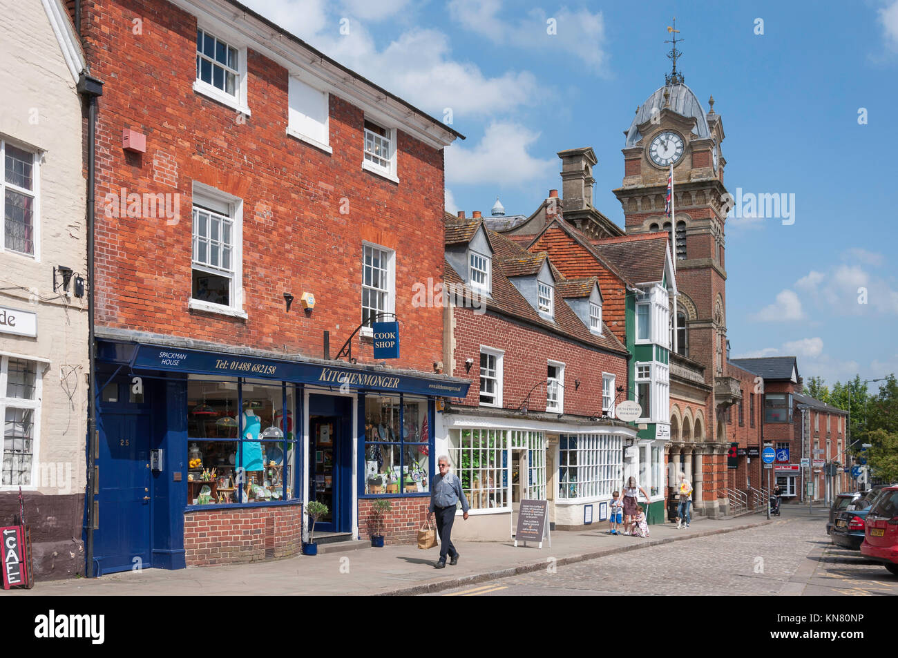 Hungerford Town Hall, High Street, Hungerford, Berkshire, England, United Kingdom Stock Photo