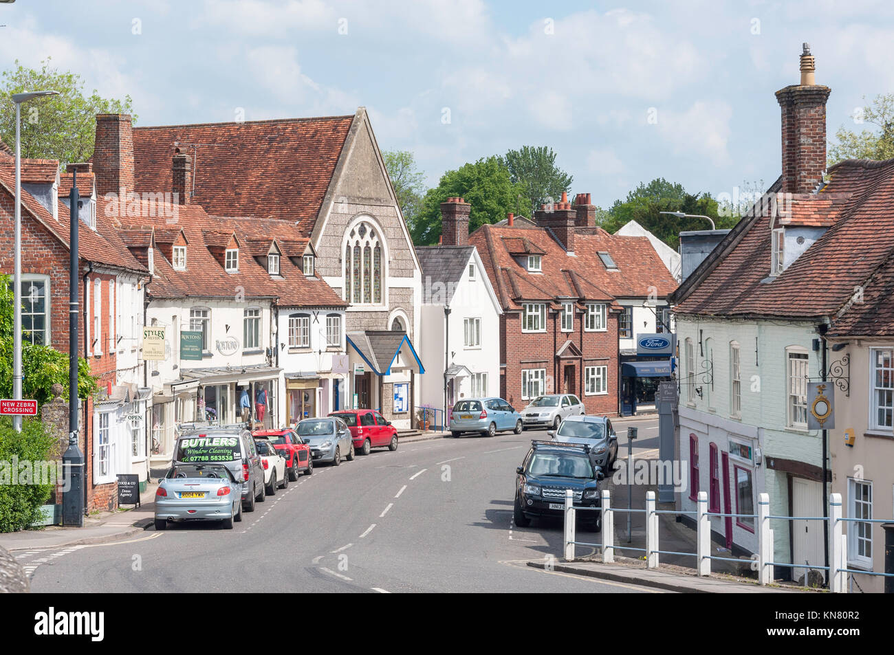 Bridge Street, Hungerford, Berkshire, England, United Kingdom - Stock Image
