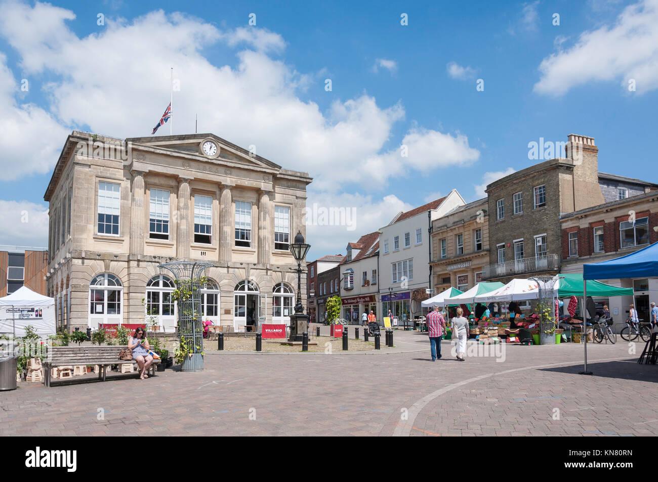 Andover Guildhall, High Street, Andover, Hampshire, England, United Kingdom - Stock Image