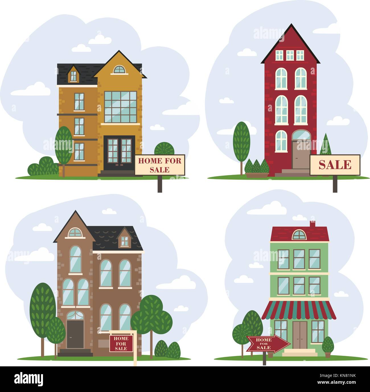 House for sale. Amsterdam dutch european house - Stock Vector