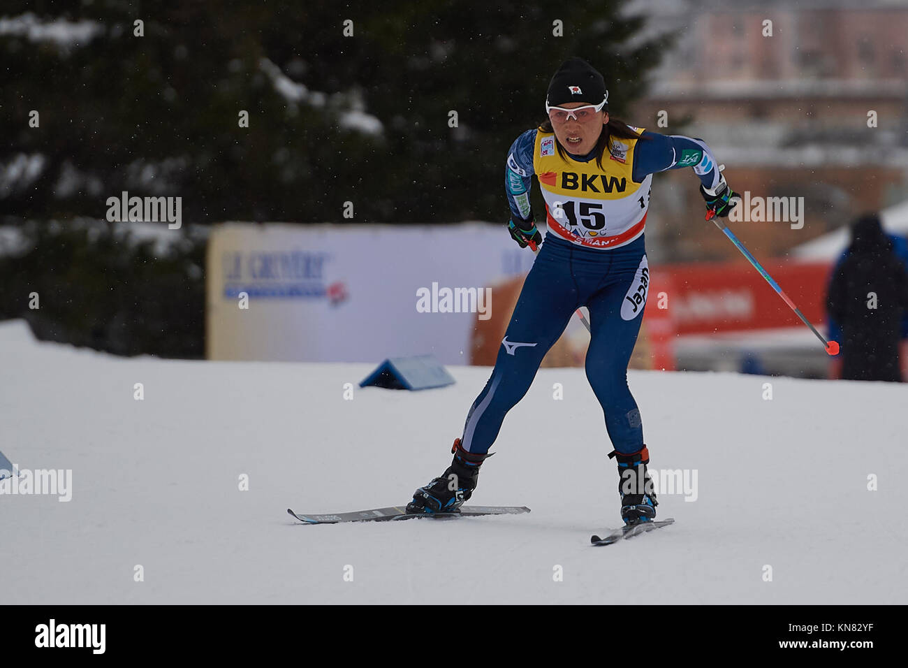 Davos, Switzerland, 10th December 2017. ISHIDA Masako (JAP) during the Ladies' 10 km F competition at the FIS Cross - Stock Image