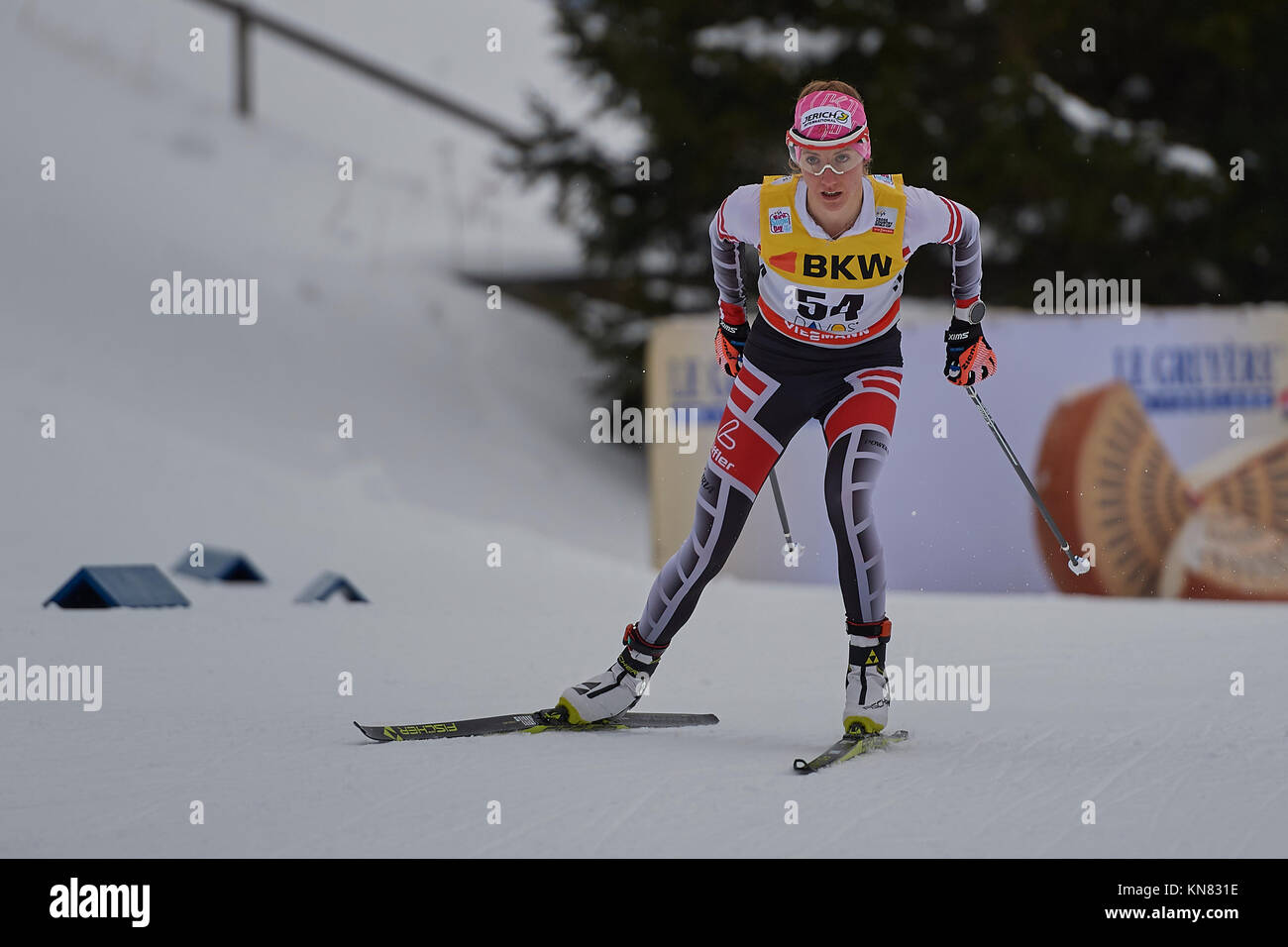 Davos, Switzerland, 10th December 2017. STADLOBER Teresa (AUT) during the Ladies' 10 km F competition at the FIS - Stock Image