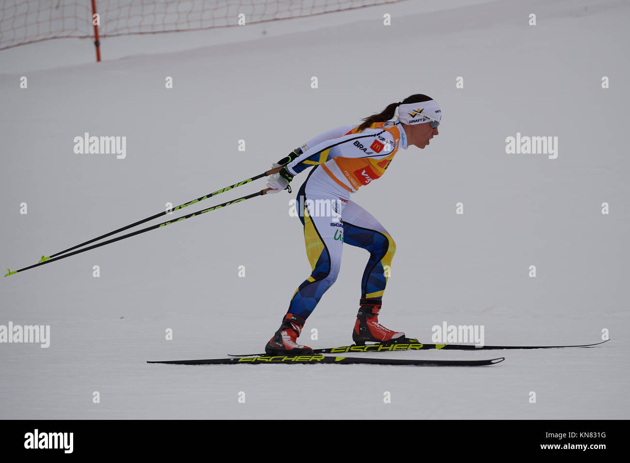 Davos, Switzerland, 10th December 2017. KALLA Charlotte (SWE) during the Ladies' 10 km F competition at the FIS - Stock Image