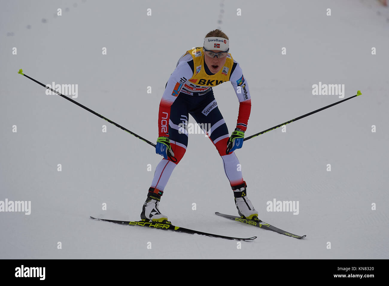 Davos, Switzerland, 10th December 2017. HAGA Ragnhild (NOR) at  the Ladies' 10 km F competition at the FIS Cross - Stock Image