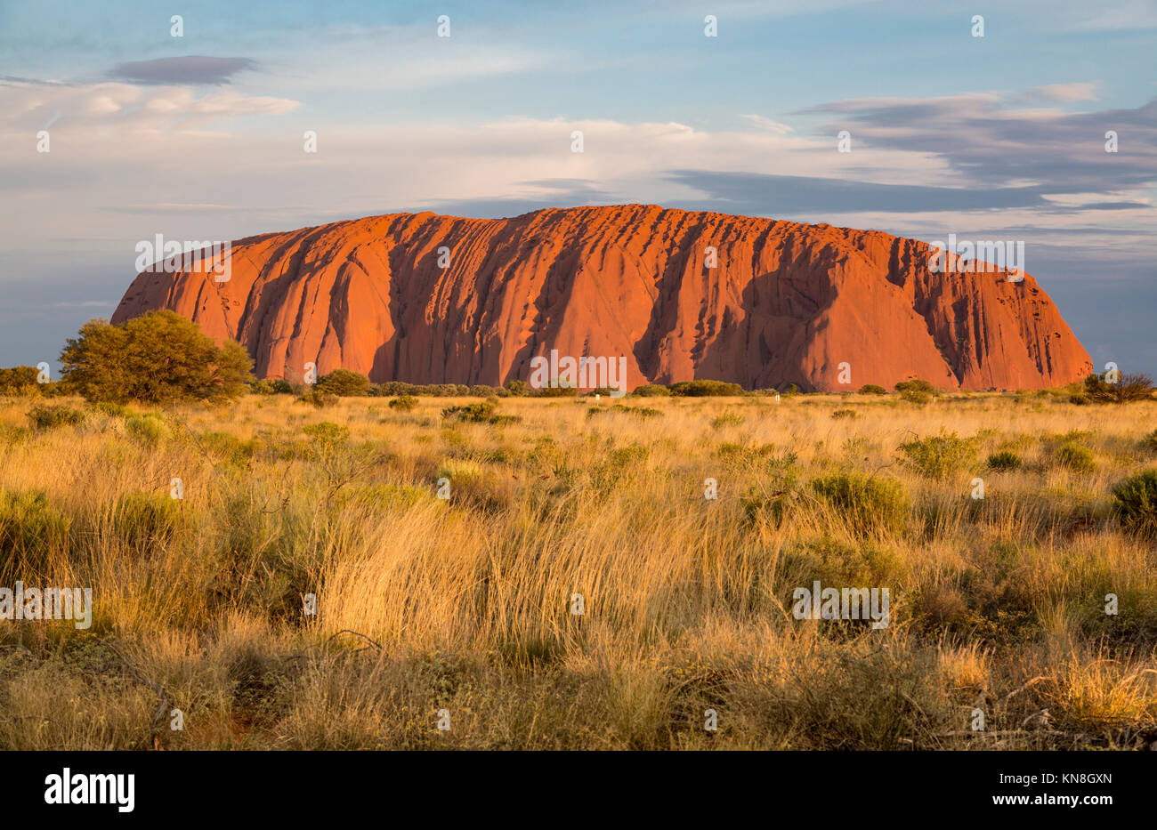 Uluru Ayers Rock Outback Australia Stock Photo