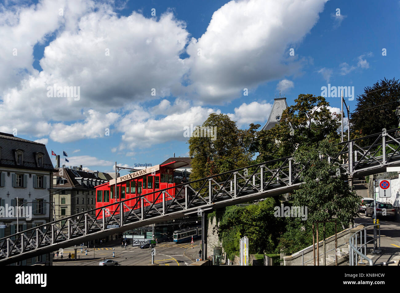 Polybahn, Zurich, Switzerland Stock Photo