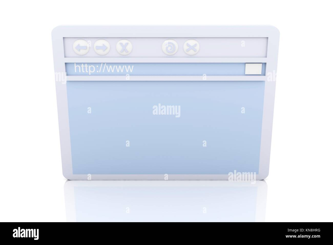 3D Illustration. A symbolic Browser Window.. - Stock Image