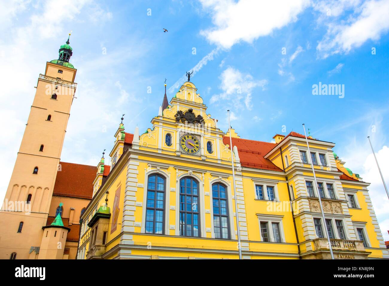 Historic Architecture in Ingolstadt, Bavaria, Germany.. Stock Photo