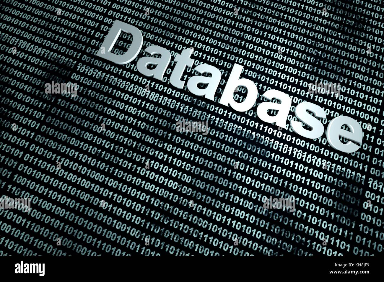 A binary database background. 3D Illustration.. - Stock Image
