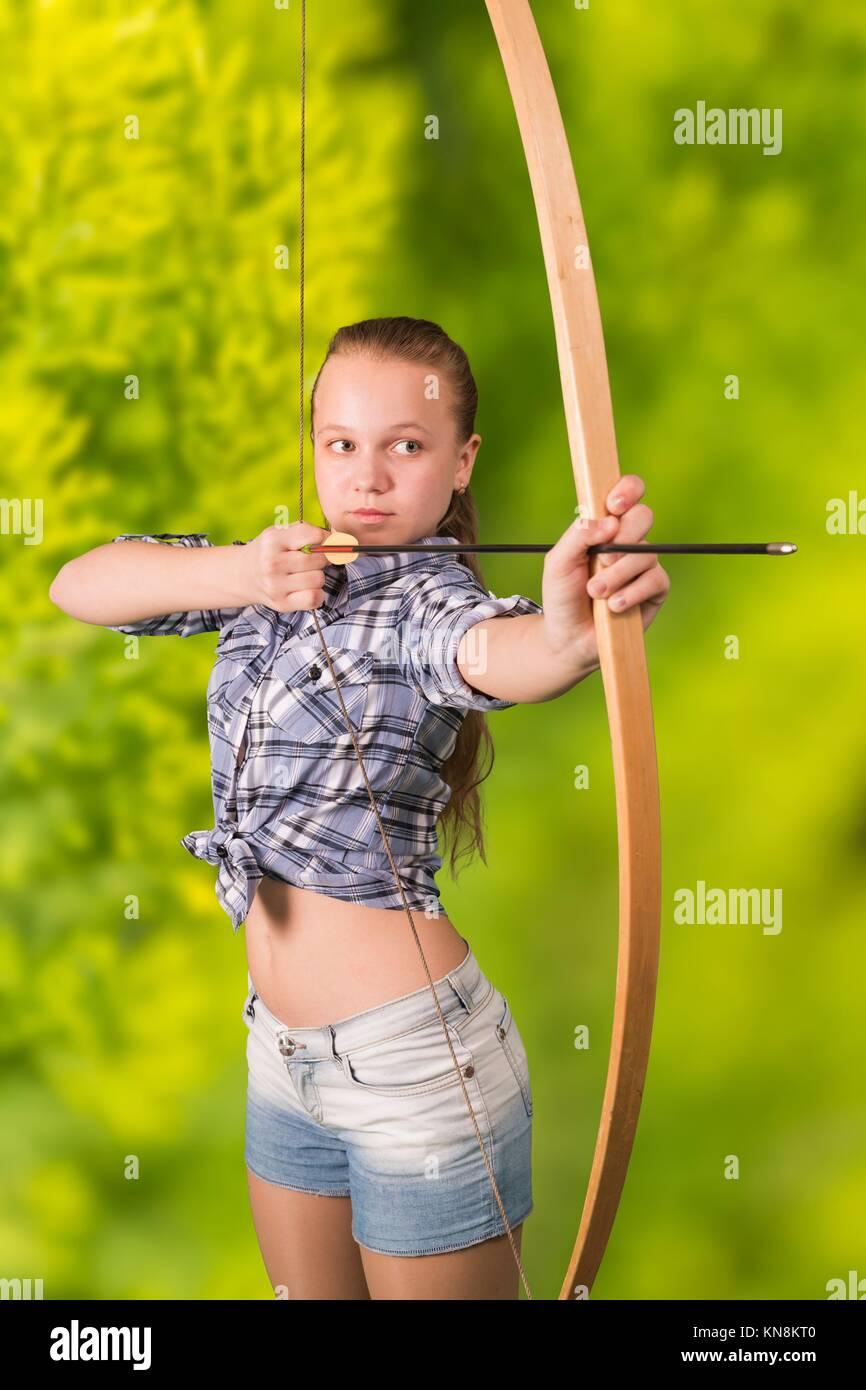 Nature teen girl