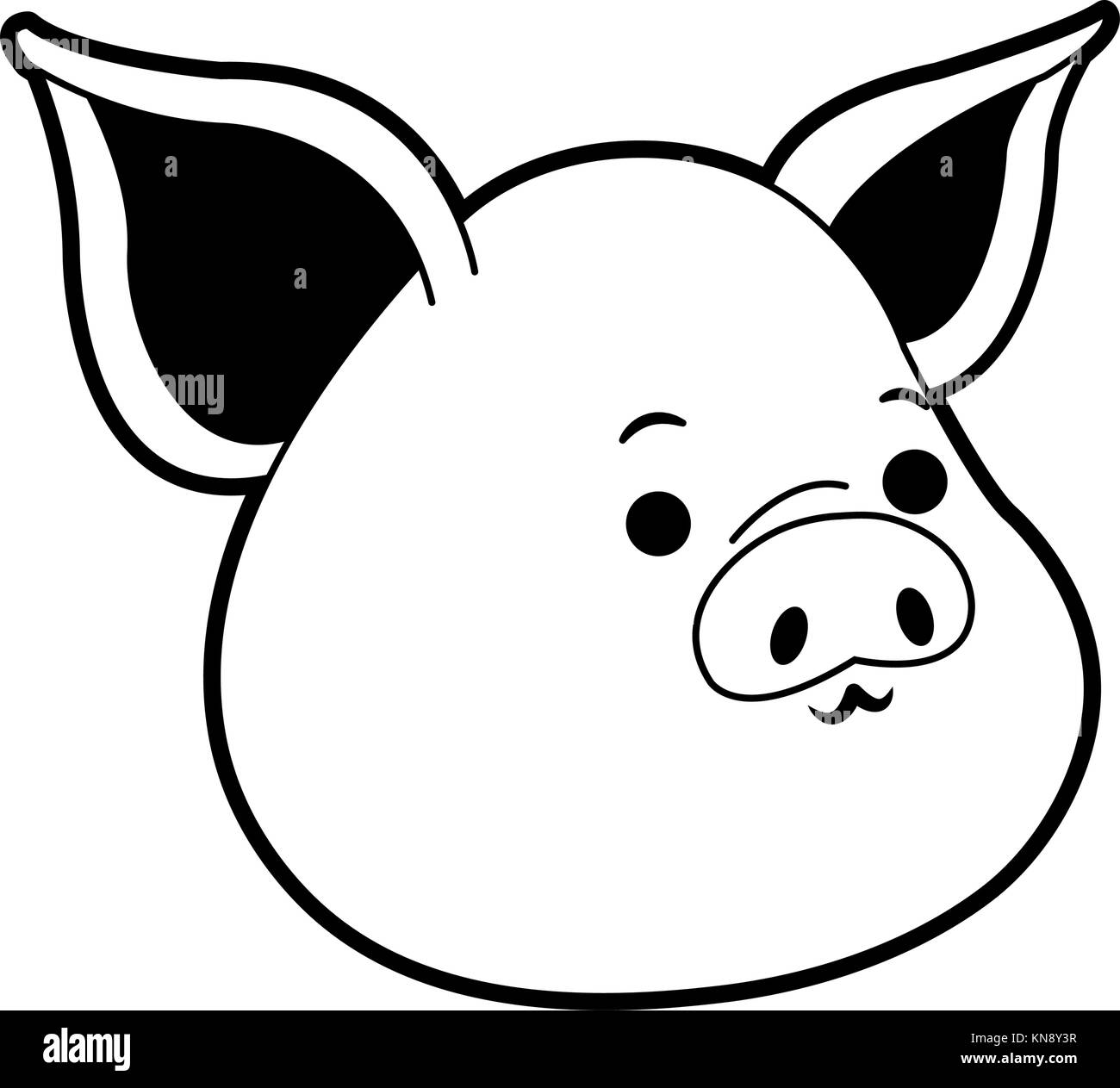 Cartoon Pig Black And White Stock Photos Images Alamy