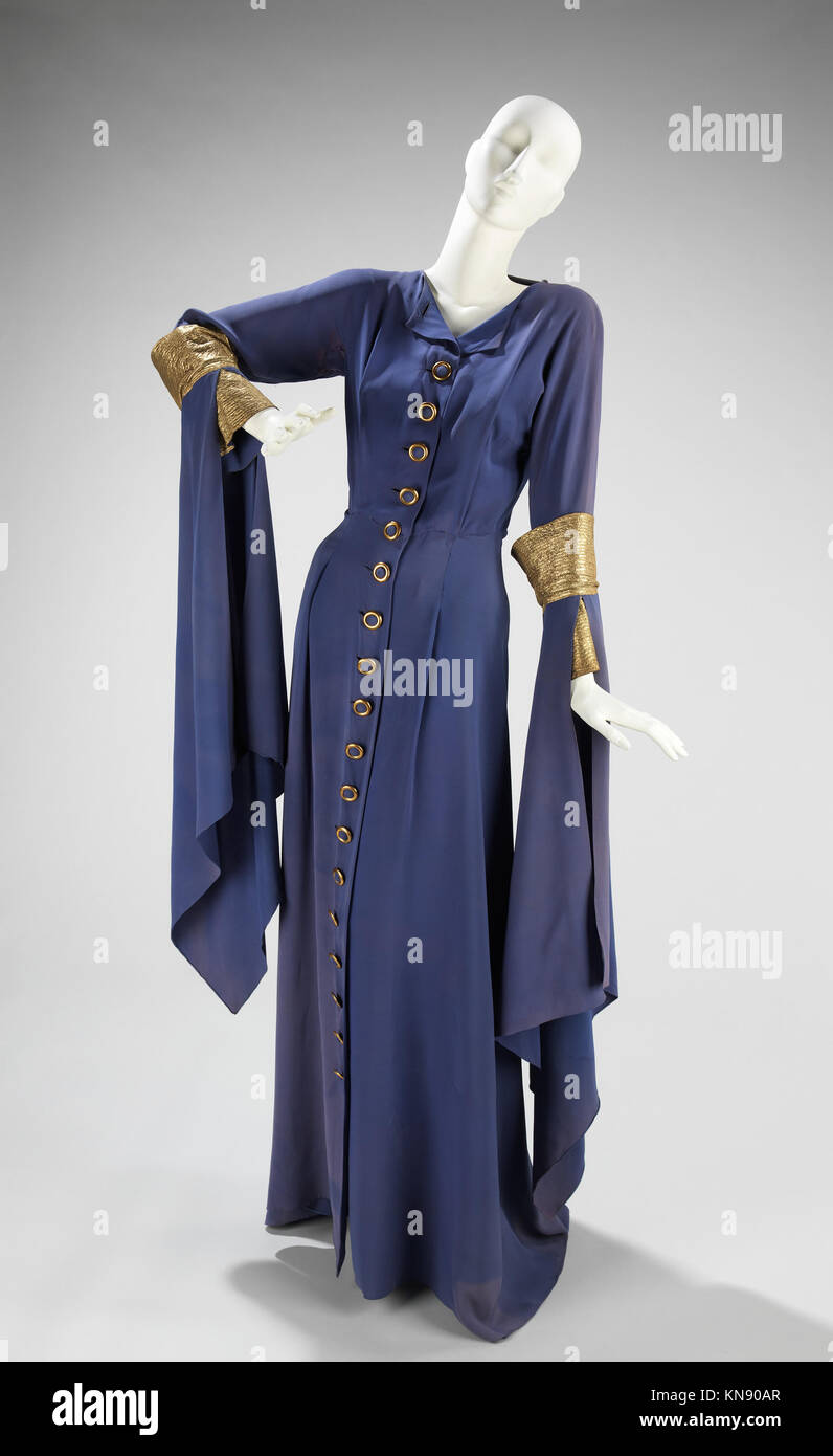 Evening dress MET 88.146.59 front CP4 156084 Design House: House of Lanvin, French, founded 1889, Designer: Jeanne - Stock Image