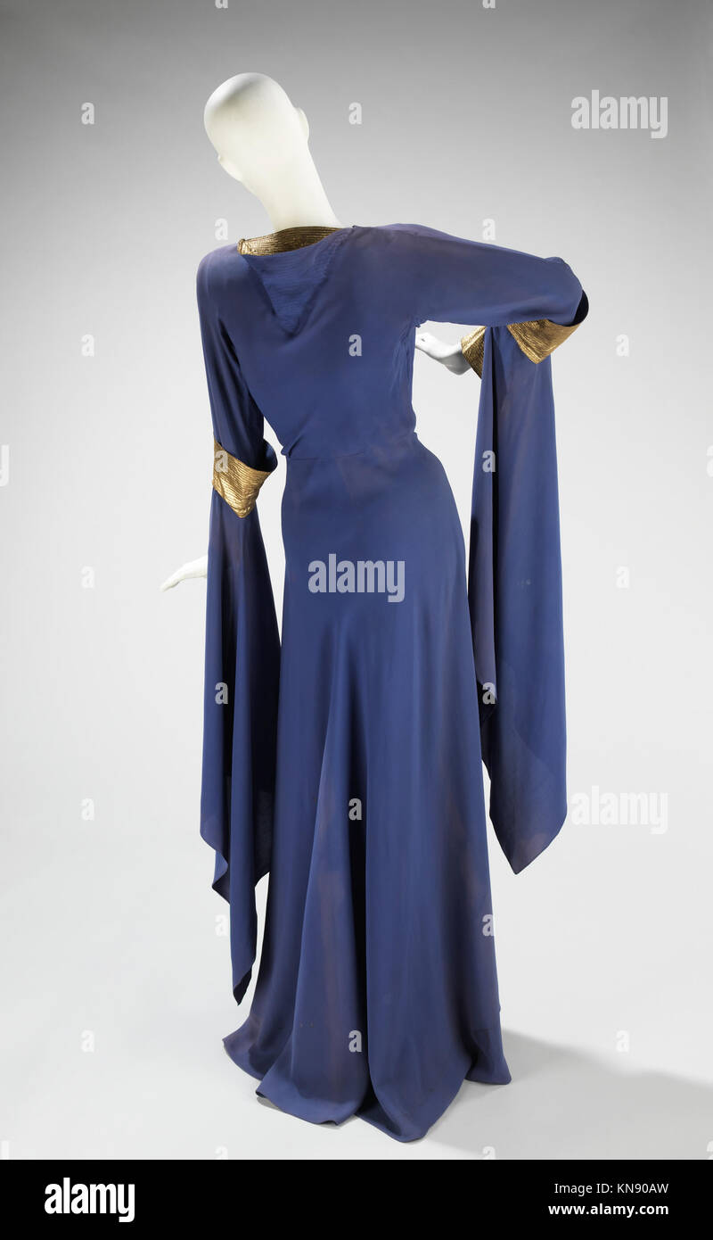 Evening dress MET 88.146.59 back CP4 156084 Design House: House of Lanvin, French, founded 1889, Designer: Jeanne - Stock Image