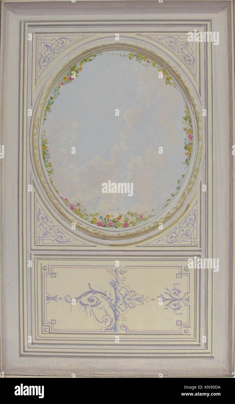 Ceiling Design for the Petit Salon of the Duchess of Newcastle Stock ...
