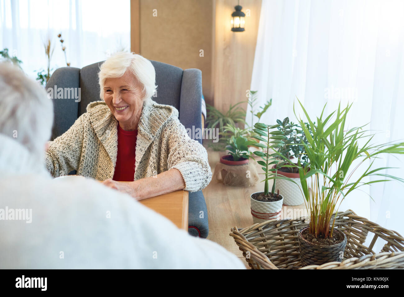 Senior Couple in Cafe - Stock Image