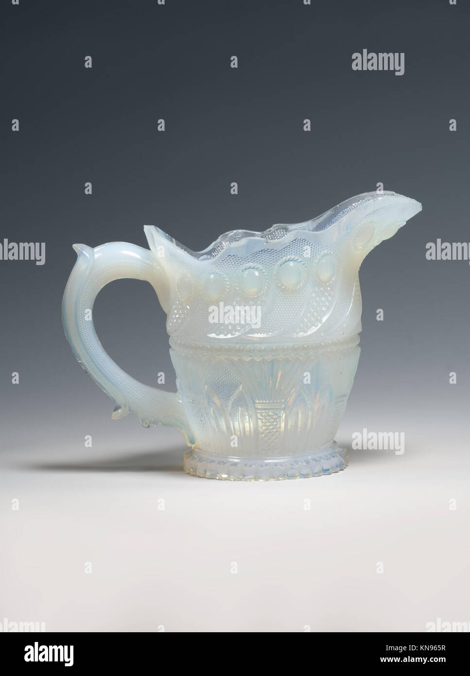 Cream pitcher MET DP207348 2640 Manufacturer: Probably Boston & Sandwich Glass Company, American, 1825?1888, Sandwich, Stock Photo