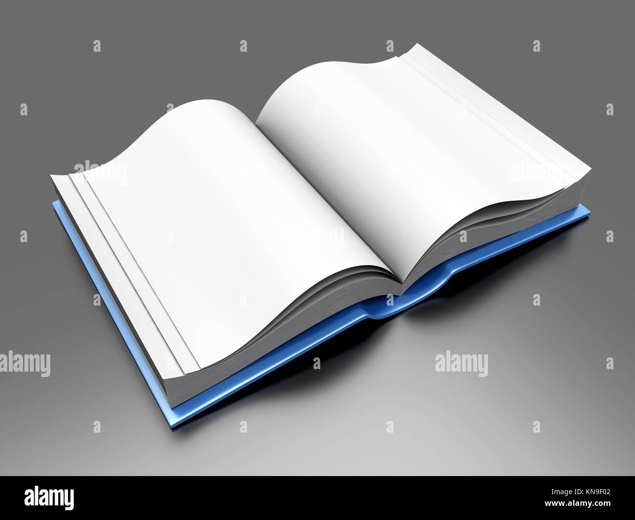 A open Book. 3D rendered Illustration. - Stock Image