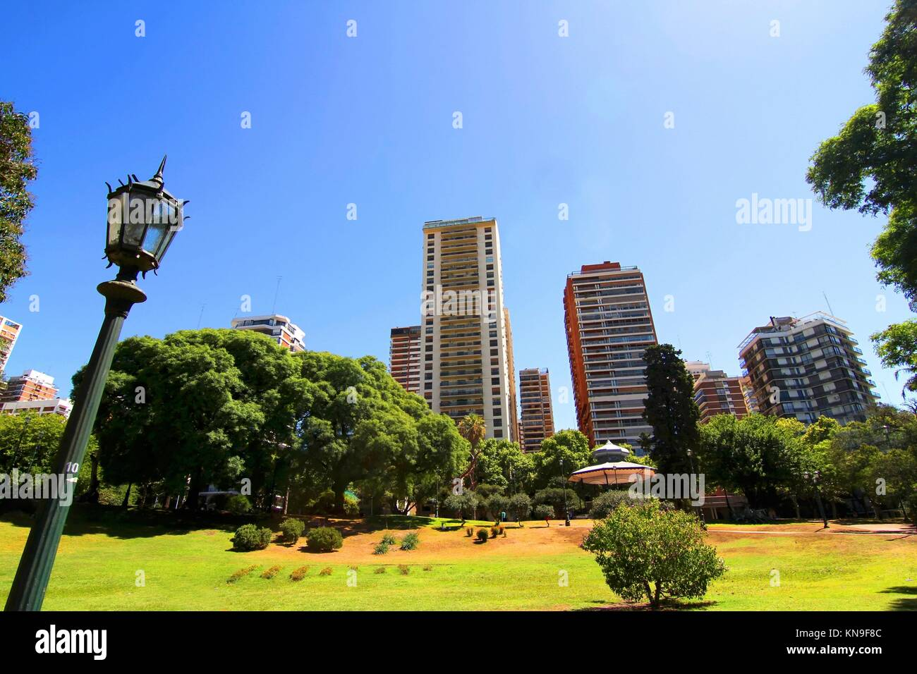 The Plaza Barrancas de Belgrano in Buenos Aires, Argentina. - Stock Image
