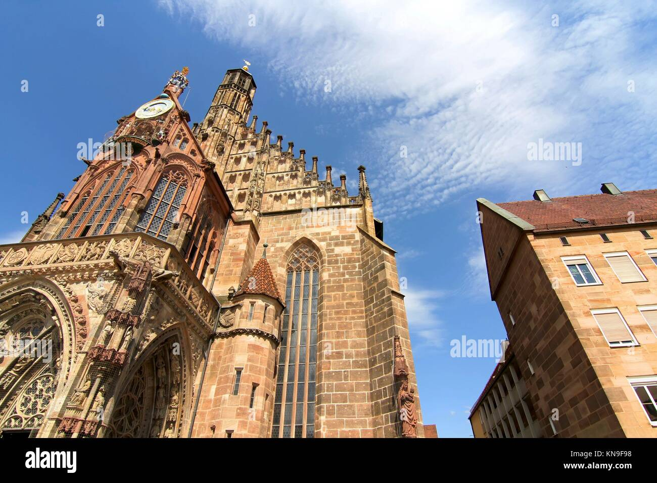 The Frauenkirche (Church of Ladies) in Nuremberg, Bavaria, Germany. - Stock Image