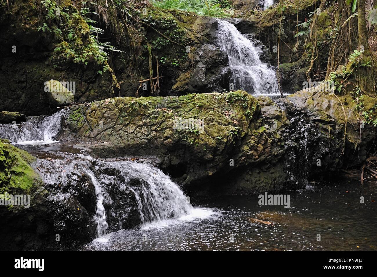 Waterfalls In Nature Big Island Hawaii Islands Usa
